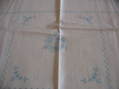 Vintage Linen Tablecloth to Embroider .Design printed onto linen ready to sew