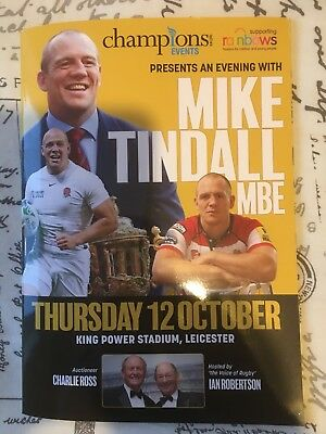 Mike Tindall Rugby Dinner 48 Page Brochure