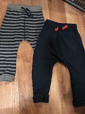 Boys Marks And Spencer 2 pack Joggers Age 18-24 Months
