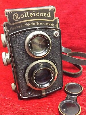 Vintage Rolleicord Twin Lens Reflex Camera Working Condition Carl Zeiss Lens