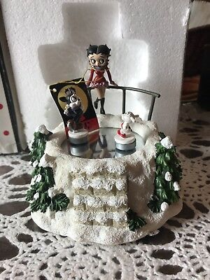 2001 Betty Boop Winter Wonderland Wind Up Music Box