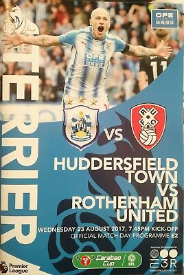 Huddersfield Town vs Rotherham United Utd 2017/18 Carabao League Cup