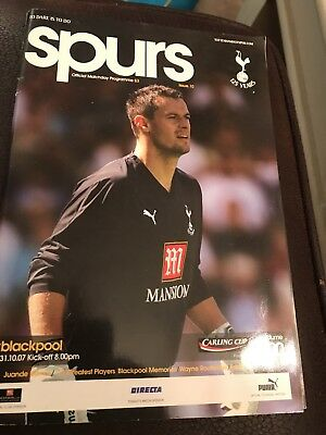 Spurs Vs Blackpool Programme