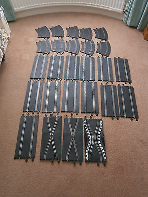 Great Selection Of Scalextric Vintage Classic Track Pieces Job Lot