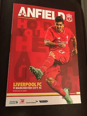 Liverpool Vs Manchester City Programme