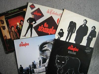 5 X The Stranglers LPs Feline, IV,Black& White, The Collection, Aural Sculpture.