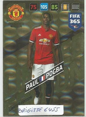 Panini Adrenalyn xl Fifa 365 2018 Limited Edition Pogba