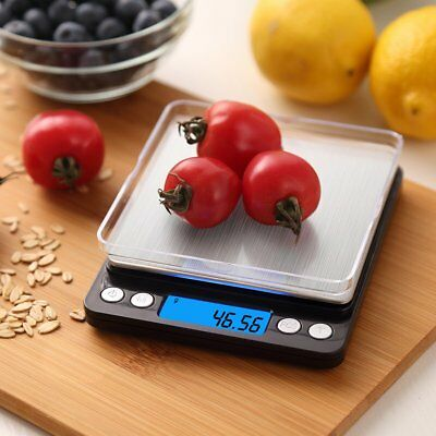 500g/ 0.01g LCD Digital Kitchen Scale Pro Cooking scale with Back-Lit Disp AMIR