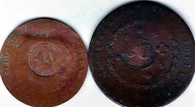 Brazil  set of 2 countermarked coins