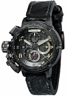 U-Boat Chimera 46 Carbon & Titanium Chronograph Leather Automatic Watch 8057