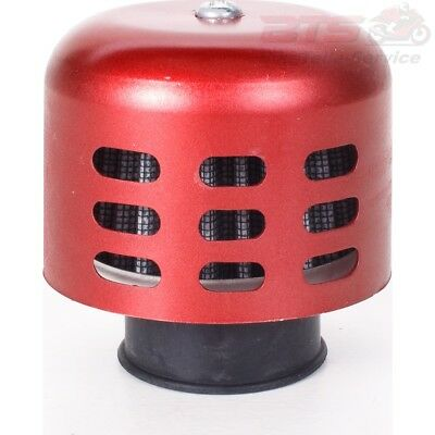 Air Filter Luftfilter Alu Kappe 28-44mm rot Yamaha DT CW YM TZR YQ CY XF CS YP E