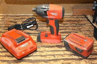 HILTI 18-A impact driver-battery and charger-nice