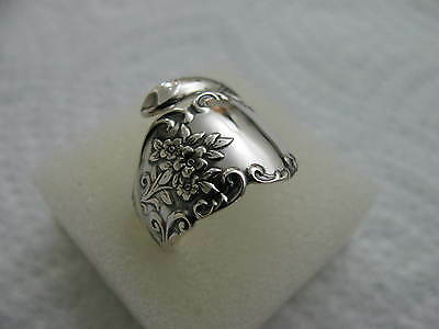 Sterling Silver spoon RING s 5 3/4 Many Happy Returns Of The Day #5533 Jewelry