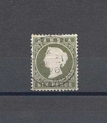 GAMBIA 1886 SG 32 USED Cat £40