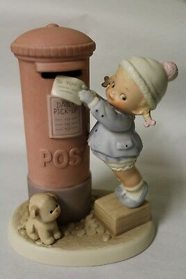 Enesco Mabel Lucie Attwell Memories of Yesterday Figure - Letter in Post Box