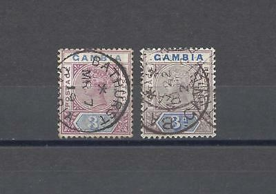 GAMBIA 1898-1902 SG 41/41B USED Cat £112