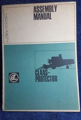 Claas protector Assembly combine harvester instruction manual workshop