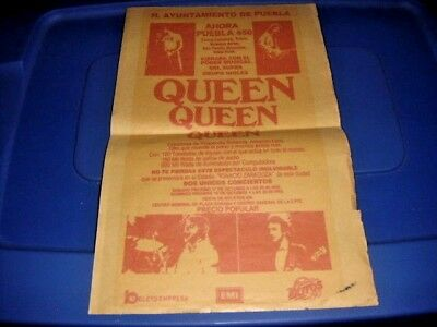 QUEEN in PUEBLA MEXICO 1981 CONCERT POSTER Original Freddie Mercury