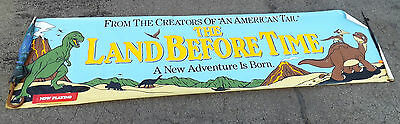 "1988 Universal City Studios ""The Land Before Time""  Banner - Twelve Feet Long"