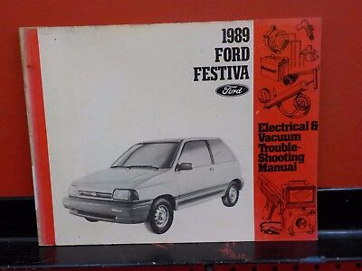 1989 ford festiva service shop manual repair wiring diagrams evtm 89 rh picclick com 1988 Ford Festiva Fuel Filter Location Brown 1986 Ford Festiva