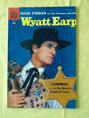 """High Value,#921, 1960, DELL Comic 10c """"Wyatt Earp"""" real photo cover """"MUST SEE!"""""""