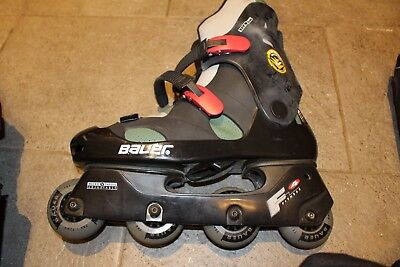 Bauer Men's Inline Skates Size 10 With Knee/Elbow Pads and Gloves and bag includ