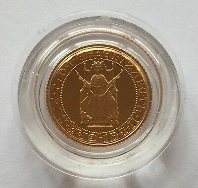 1989 Tudor Rose Gold Proof Half Sovereign - Boxed with Certificate
