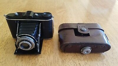 Vintage Agfa Isolette Camera with Leather Case, 4.5 x 6, Good Condition