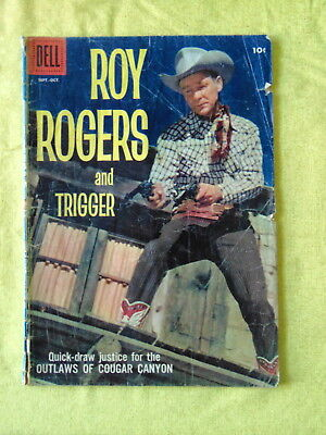 """High Value, #127, 1958, DELL Comic 10c """"ROY ROGERS and TRIGGER"""" real photo cover"""