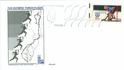 1c Gems US #1798 Olympic Torch Flight Artmaster unaddressed cover