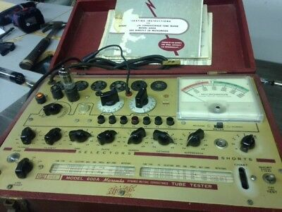 HICKOK 600A Mutual Conductance Tube Tester with Original Manual