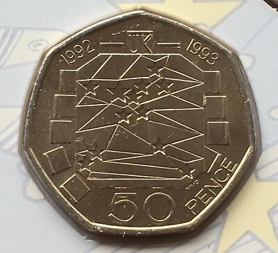 Collection of Fifty Pence Piece Set Inc RARE 1992 - 1993 EEC 50p
