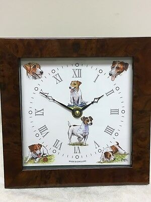 Jack Russell Dog Clock by artist Bryn Parry