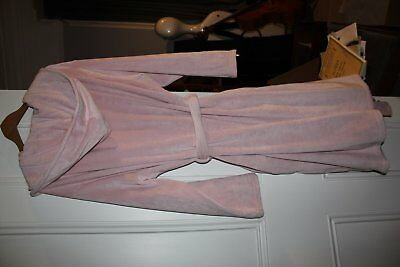 Ted Baker pink fleece hooded dressing gown, new but washed. L. size 16-18