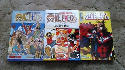 Anime Manga DVD Book Lot Collection (One Piece Hero Academia Ranma Hakusho DBZ )