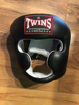 New Twins Cheek Chin Boxing Training Head Gear XL