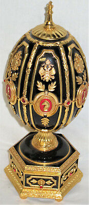 Faberge Egg Chess Set Rare Franklin Mint With Paperwork