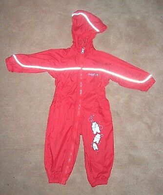 Red REGATTA puddle/ rain suit/ waterproof all-in-one 18-24 months - TODDLER