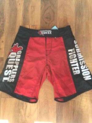 New Grapplers Quest Red MMA Shorts 28
