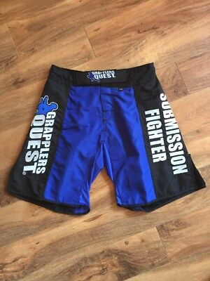 New Grapplers Quest Blue MMA Shorts 28