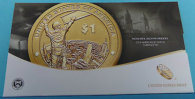 USA 2015 American $1 Coin and Currency Set
