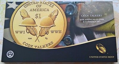 USA 2016 American $1 Coin and Currency Set