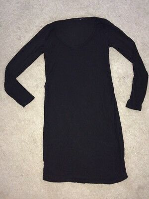 Size 8 Boohoo Maternity Black Long Sleeved Dress