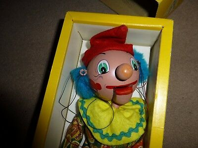VINTAGE - PELHAM PUPPET - SM1 Clown and A8 Cat- TWO PUPPETS - BOXED