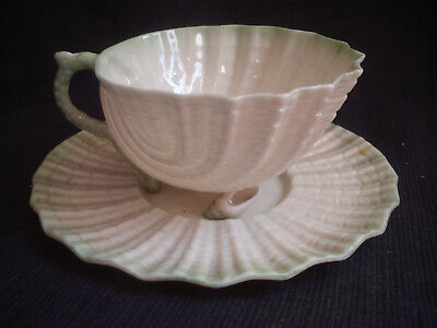 Belleek Neptune Cup & Saucer  Second Black Mark