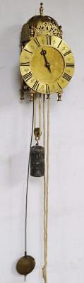 Antique Hook & Spike Lantern Wall Clock Weight Driven Clock Thomas West Reading