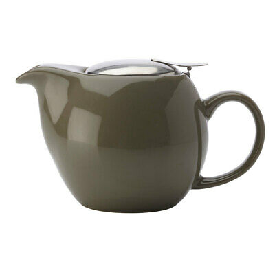 Maxwell & Williams Green 500ML Cafe Culture Porcelain Teapot w/Strainer Infuser