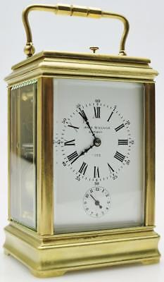 French Gorge Case Carriage Mantel Clock John Walker London 7393 Railway Interest