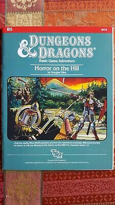 B5 HORROR ON THE HILL 1983 D&D TSR 9078 in NM-/NM- condition