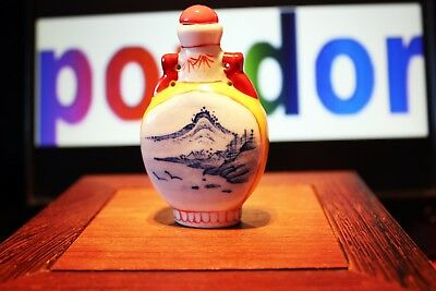 Pure porcelain hand painting landscapes - Sniff bottle